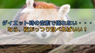 ダイエット_眠る